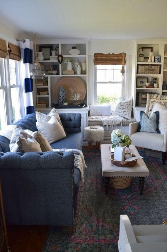 Best 25+ Blue Sofas Ideas On Pinterest | Sofa, Navy Blue Couches Within Blue Sofas (Image 10 of 20)