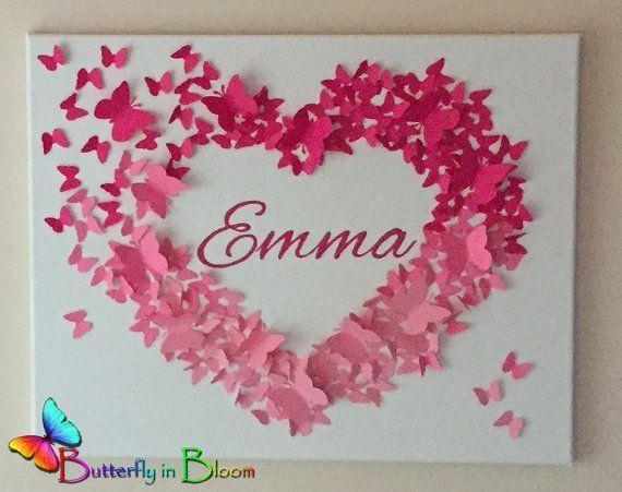 Best 25+ Butterfly Wall Art Ideas On Pinterest | 3D Butterfly Wall Inside Pink Butterfly Wall Art (Image 7 of 20)