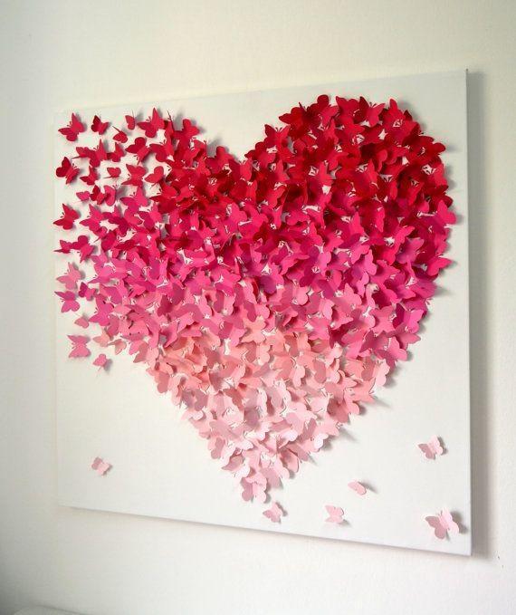 Best 25+ Butterfly Wall Art Ideas On Pinterest | 3D Butterfly Wall Pertaining To Pink Butterfly Wall Art (Image 9 of 20)