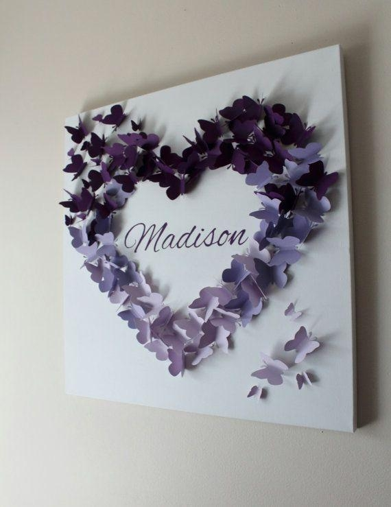 Best 25+ Butterfly Wall Art Ideas On Pinterest | 3D Butterfly Wall Throughout Butterflies 3D Wall Art (Image 11 of 20)
