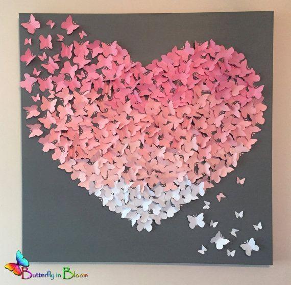 Best 25+ Butterfly Wall Art Ideas On Pinterest | 3D Butterfly Wall Within Pink Butterfly Wall Art (Image 10 of 20)