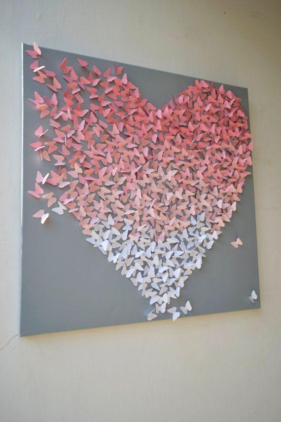 Best 25+ Butterfly Wall Ideas On Pinterest | Diy Butterfly, Heart Within Pink Butterfly Wall Art (Image 13 of 20)