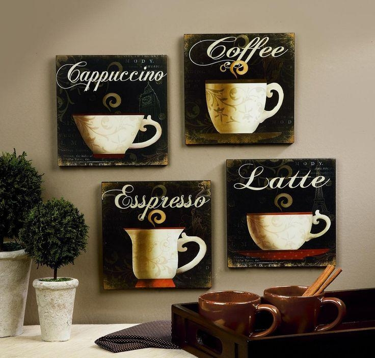 20 Photos Cafe Latte Kitchen Wall Art | Wall Art Ideas