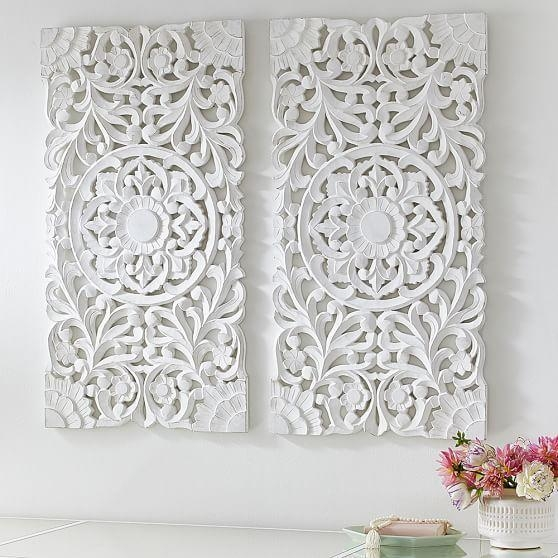 Featured Image of White Wooden Wall Art