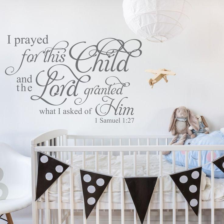 Best 25+ Christian Wall Decals Ideas On Pinterest | Wall Decor In Nursery Bible Verses Wall Decals (View 2 of 20)
