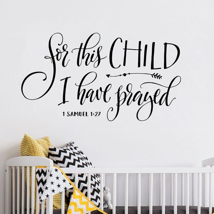 Best 25+ Christian Wall Decals Ideas On Pinterest | Wall Decor Pertaining To Nursery Bible Verses Wall Decals (Image 6 of 20)