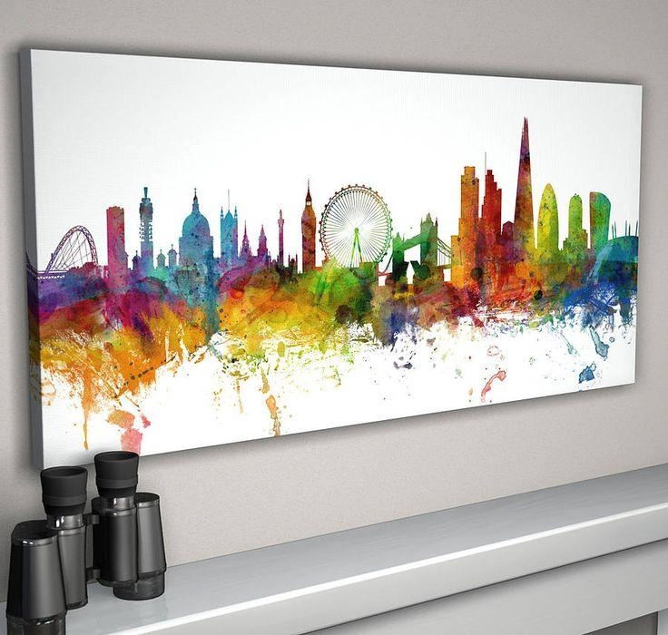 Best 25+ Cityscape Art Ideas On Pinterest | City Painting, Btec For Cityscape Canvas Wall Art (Image 5 of 20)