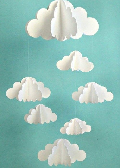 Best 25+ Cloud Decoration Ideas On Pinterest | Cloud Party Pertaining To 3D Clouds Out Of Paper Wall Art (View 12 of 20)