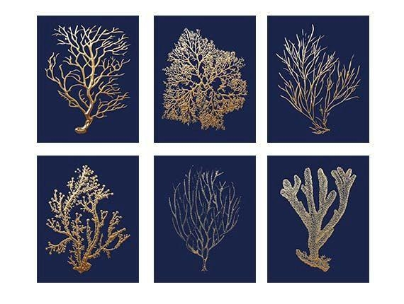 Best 25+ Coral Wall Art Ideas On Pinterest | Hallway Wall Decor With Regard To Blue And White Wall Art (Image 7 of 20)