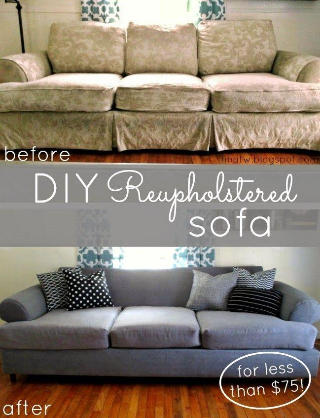 Best 25+ Couch Reupholstery Ideas On Pinterest | Sofa Reupholstery For Reupholster Sofas Cushions (View 8 of 20)