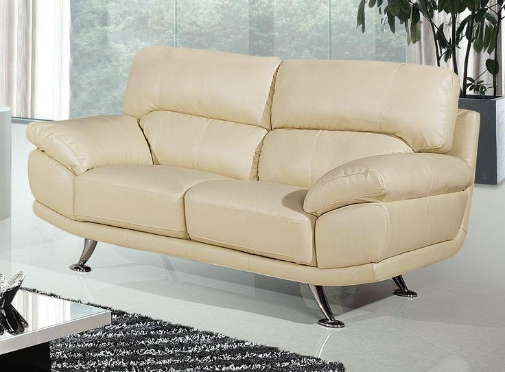 Best 25+ Cream Leather Sofa Ideas On Pinterest | Cream Sofa Pertaining To Beige Leather Couches (Image 10 of 20)