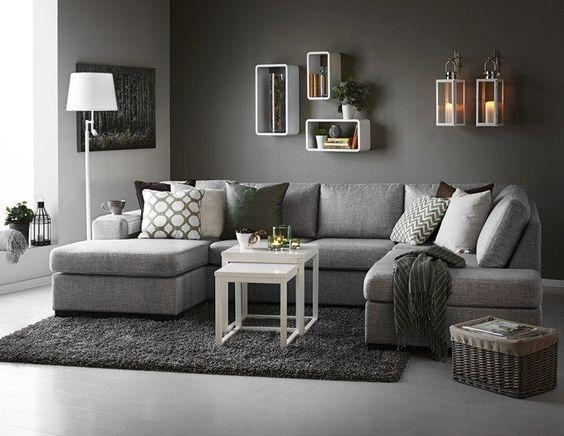 Best 25+ Dark Grey Sofas Ideas On Pinterest | Grey Sofa Design With Living Room With Grey Sofas (Image 5 of 20)