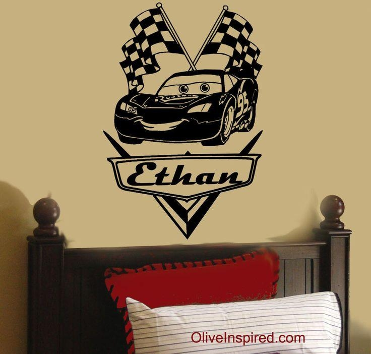 Best 25+ Disney Cars Room Ideas On Pinterest | Cars Bedroom Themes Intended For Lightning Mcqueen Wall Art (Image 3 of 20)