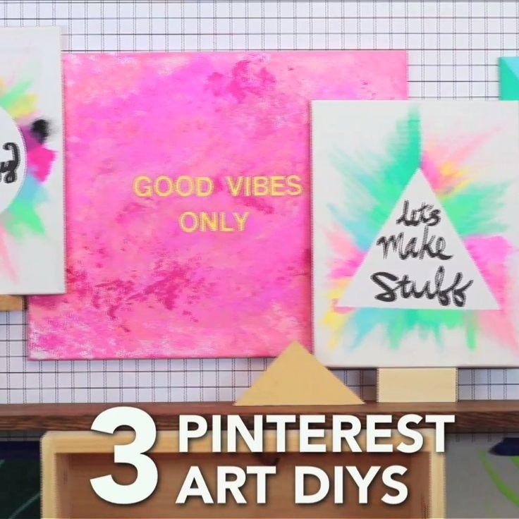 diy canvas art ideas pinterest top 20 diy canvas wall ideas 12074