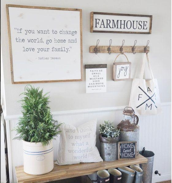 Best 25+ Entryway Wall Decor Ideas On Pinterest | Farmhouse Wall In Farmhouse Wall Art (View 15 of 20)