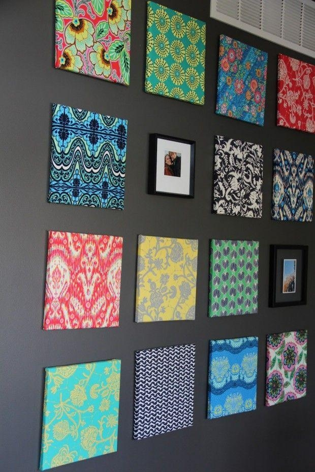 Best 25+ Fabric Covered Canvas Ideas On Pinterest | Fabric Wall Intended For Fabric Canvas Wall Art (View 3 of 20)