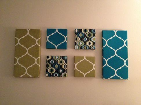 Best 25+ Fabric Covered Canvas Ideas On Pinterest | Fabric Wall Throughout Fabric Canvas Wall Art (View 5 of 20)