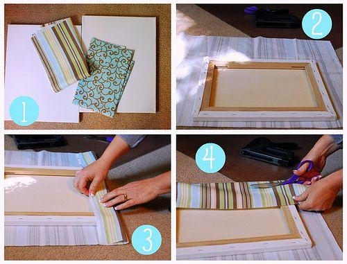 Best 25+ Fabric Covered Canvas Ideas On Pinterest | Fabric Wall Within Fabric Canvas Wall Art (View 4 of 20)
