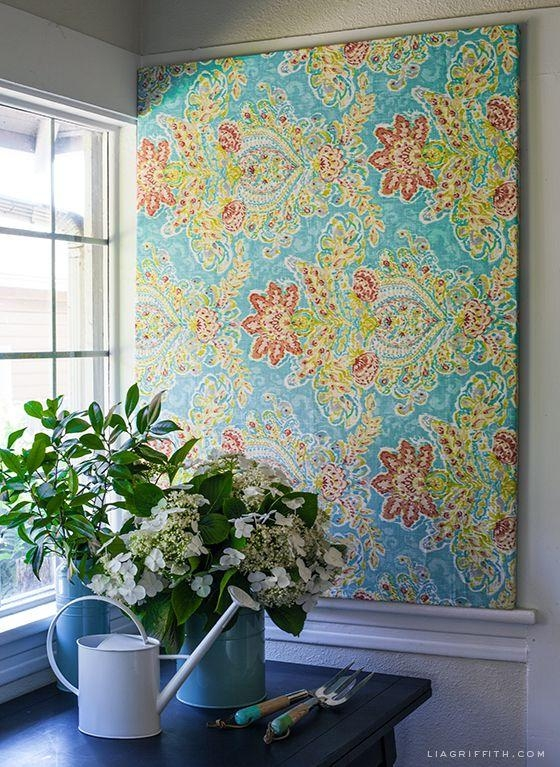 Best 25+ Fabric Wall Art Ideas On Pinterest | Large Wall Art For Fabric Wall Art (Image 1 of 20)