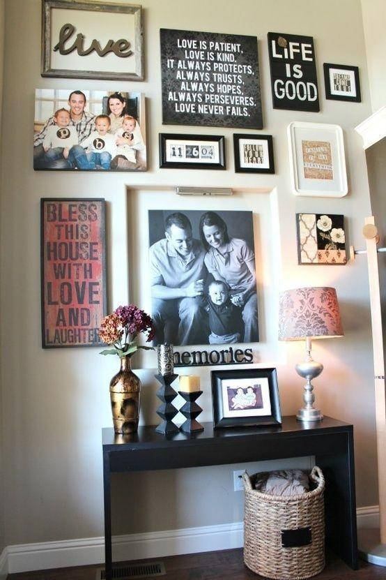 Best 25+ Family Picture Walls Ideas Only On Pinterest | Picture With Family Photo Wall Art (View 8 of 20)