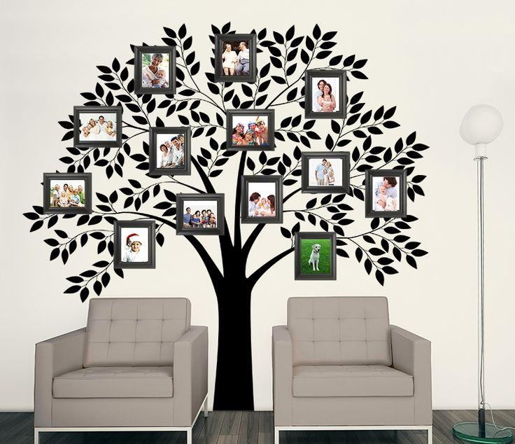 Best 25+ Family Tree Wall Ideas On Pinterest | Family Tree Mural Throughout Walmart Wall Stickers (Image 5 of 20)