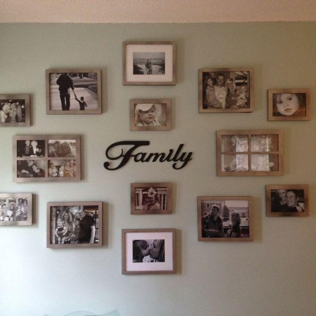 Best 25+ Family Wall Photos Ideas On Pinterest | Galleries, Photo Regarding Family Photo Wall Art (View 2 of 20)