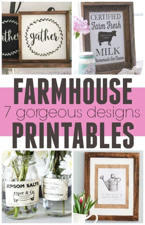 Best 25+ Farmhouse Artwork Ideas On Pinterest | Music Wall Decor Within Farmhouse Wall Art (View 14 of 20)