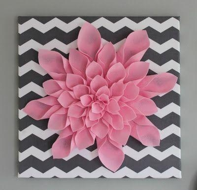 Best 25+ Flower Canvas Ideas On Pinterest | Easy Canvas Art Pertaining To Pink Flower Wall Art (View 13 of 20)