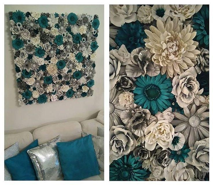 Best 25+ Flower Canvas Ideas On Pinterest | Easy Canvas Art With Teal Flower Canvas Wall Art (Image 9 of 20)