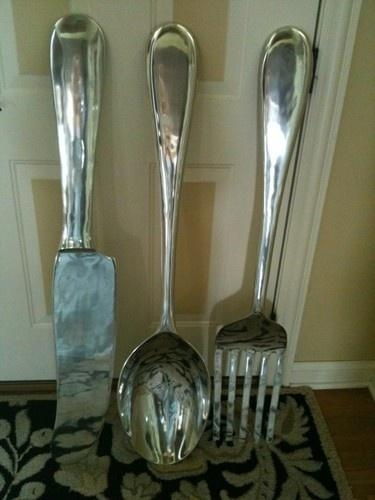 Best 25+ Fork Spoon Wall Decor Ideas On Pinterest | Chalkboard For Inside Large Utensil Wall Art (Image 4 of 20)