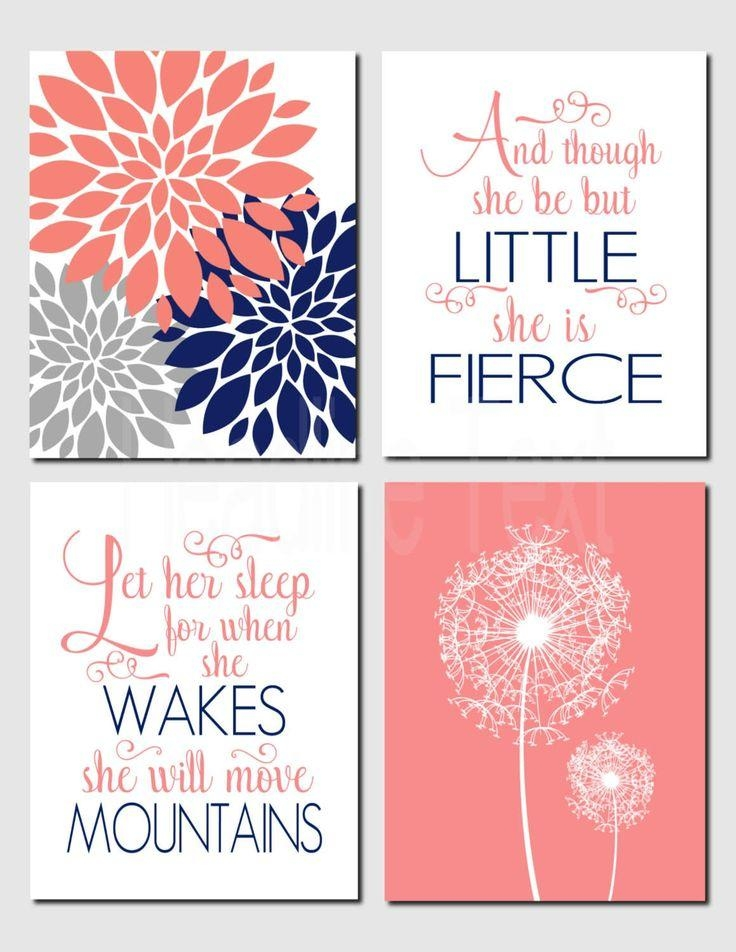 Best 25+ Girl Wall Decor Ideas On Pinterest | Girls Room Paint In Etsy Childrens Wall Art (View 10 of 20)