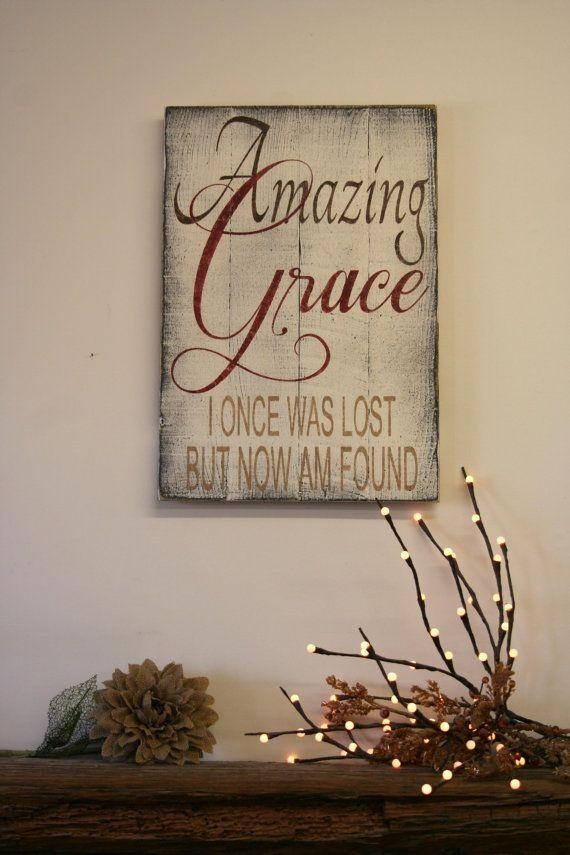 Best 25+ Grace Sign Ideas On Pinterest | Burlap Cross, Barn Board Intended For Grace Wall Art (View 5 of 20)