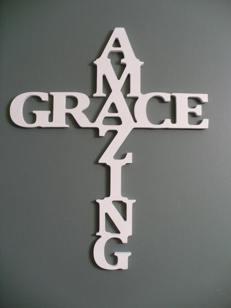 Best 25+ Grace Sign Ideas On Pinterest | Burlap Cross, Barn Board Pertaining To Grace Wall Art (View 10 of 20)