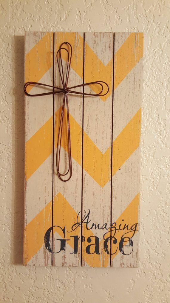 Best 25+ Grace Sign Ideas On Pinterest | Burlap Cross, Barn Board Within Grace Wall Art (View 18 of 20)