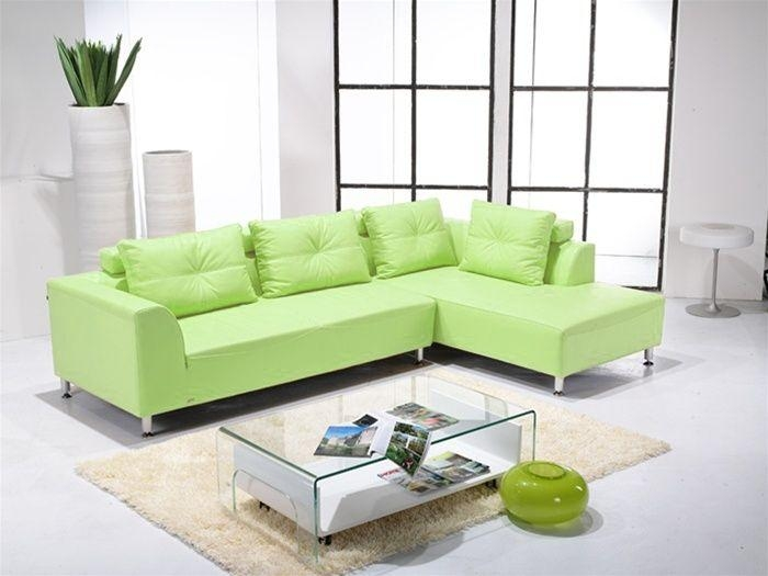 Featured Image of Green Leather Sectional Sofas