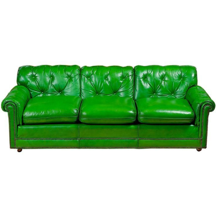 Best 25+ Green Leather Sofa Ideas On Pinterest | Green Leather With Mint Green Sofas (View 15 of 20)