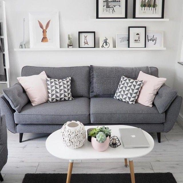 Best 25+ Grey Sofa Decor Ideas On Pinterest | Grey Sofas, Gray Regarding Living Room With Grey Sofas (Image 10 of 20)