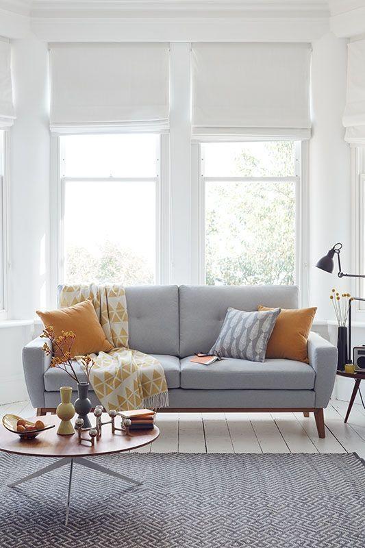 Best 25+ Grey Sofas Ideas On Pinterest | Grey Sofa Decor, Lounge Within Window Sofas (Image 6 of 20)
