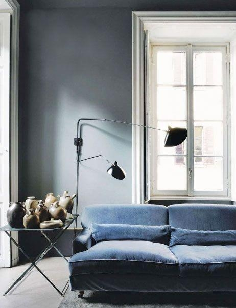 Best 25+ Grey Velvet Sofa Ideas On Pinterest | Gray Velvet Sofa In Blue Grey Sofas (Image 9 of 20)