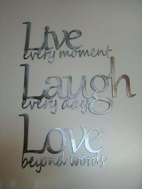 Best 25+ Live Laugh Love Ideas On Pinterest | Live Laugh Love Inside Live Laugh Love Wall Art Metal (Image 3 of 20)