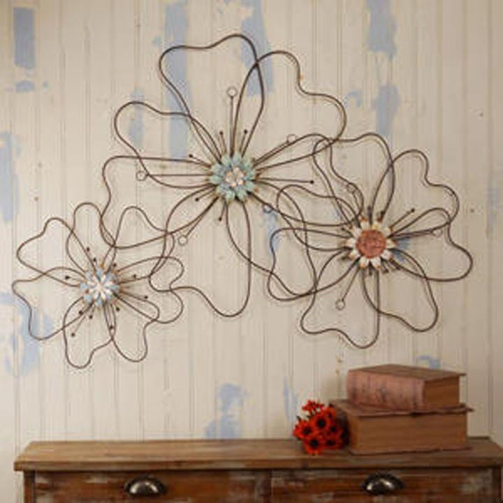 Best 25+ Metal Flower Wall Art Ideas Only On Pinterest | Metal In Wire Wall Art Decors (View 9 of 20)