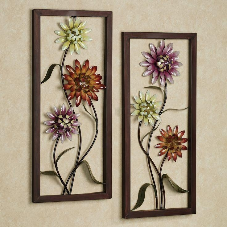 Best 25+ Metal Flower Wall Art Ideas Only On Pinterest | Metal Pertaining To Floral & Plant Wall Art (View 4 of 20)