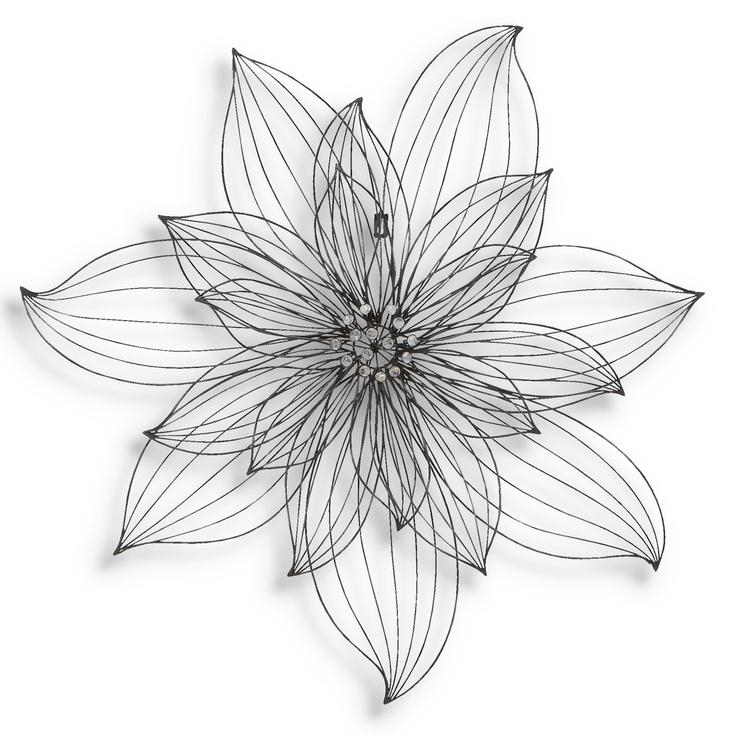Best 25+ Metal Flower Wall Art Ideas Only On Pinterest | Metal Regarding Wire Wall Art Decors (Image 9 of 20)