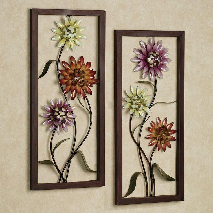 Best 25+ Metal Wall Art Uk Ideas On Pinterest | Metallic Blue Throughout Purple Flower Metal Wall Art (View 8 of 20)