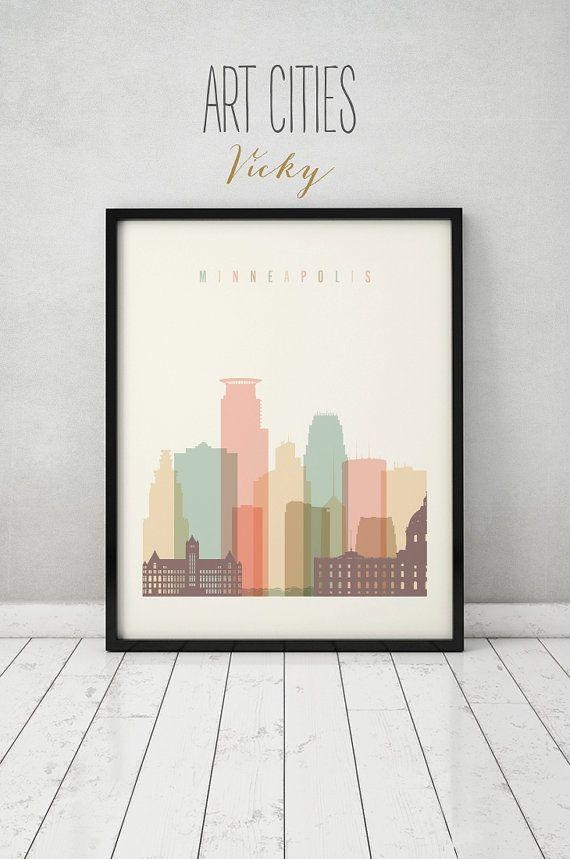 Best 25+ Minneapolis Skyline Ideas On Pinterest | Red Crayon With Regard To Minneapolis Wall Art (Image 7 of 20)