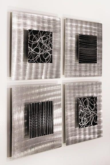 Best 25+ Modern Metal Wall Art Ideas On Pinterest | Contemporary Intended For Black Silver Wall Art (View 13 of 20)