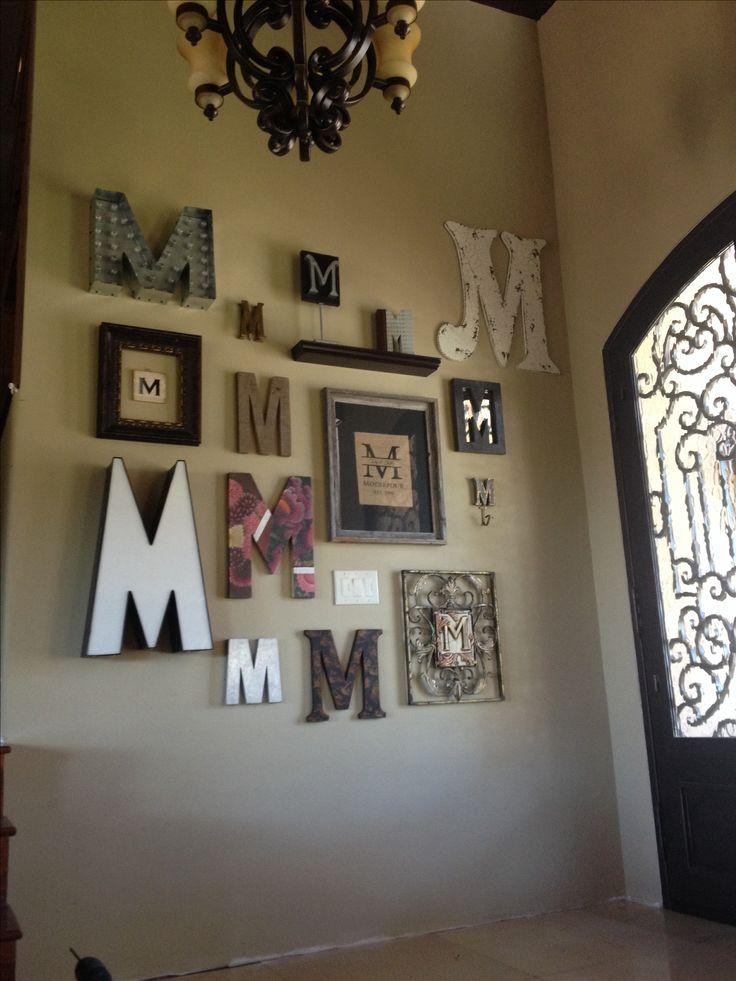 Best 25+ Monogram Wall Letters Ideas On Pinterest | Dorm Letters Pertaining To Framed Monogram Wall Art (Image 11 of 20)