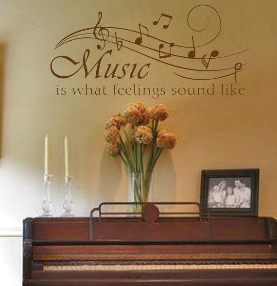10 Awesome Music Inspired Home Decor Ideas: 20+ Music Theme Wall Art