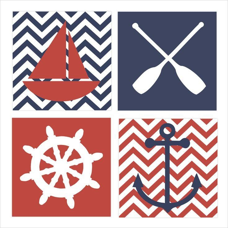 Best 25+ Nautical Canvas Art Ideas On Pinterest | Nautical Canvas Pertaining To Nautical Canvas Wall Art (View 9 of 20)