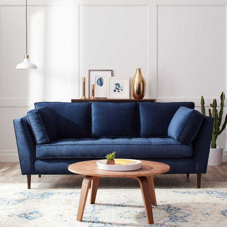 Best 25+ Navy Blue Sofa Ideas On Pinterest | Navy Blue Couches Pertaining To Blue Sofas (Image 11 of 20)